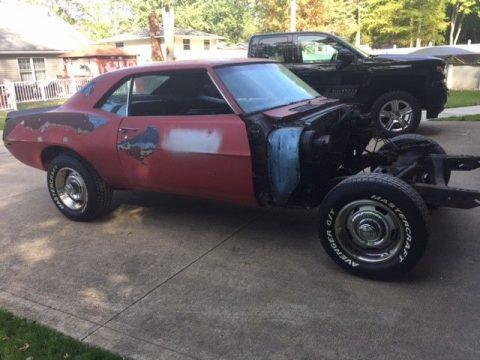 needs work 1969 Chevrolet Camaro for sale
