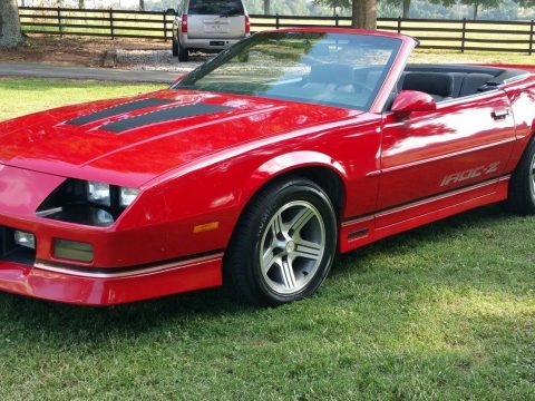 clean 1988 Chevrolet Camaro IROC Z convertible for sale