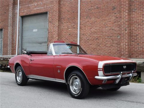 nicely detailed 1967 Chevrolet Camaro SS/RS Convertible for sale