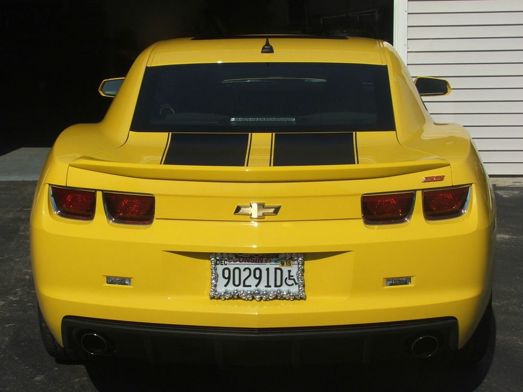 low miles 2010 Chevrolet Camaro SS Bumblebee Transformer Special Edition